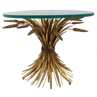 Vintage Italian Gilt Wheat Sheaf Table