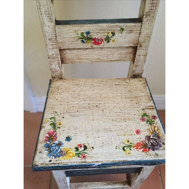 Vintage Hand Painted Child's Chair - Image 4 of 5