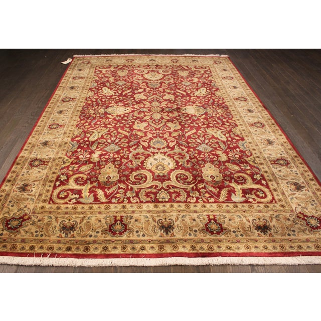 """Hand-Knotted Tabriz Wool Rug - 6' x 8'10"""" - Image 2 of 5"""