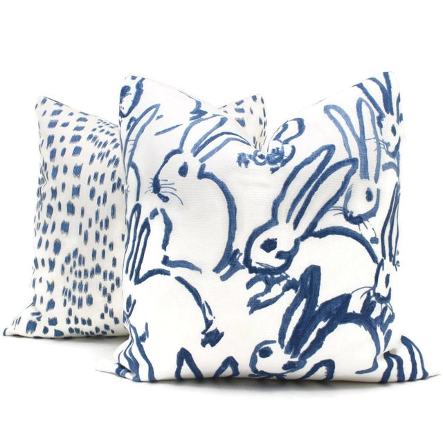 Lee Jofa Groundworks Hutch Blue Bunny Pillow - Image 3 of 5