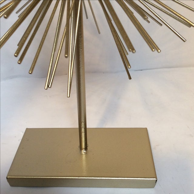 Large Gold Star Burst on Stand - Image 5 of 6
