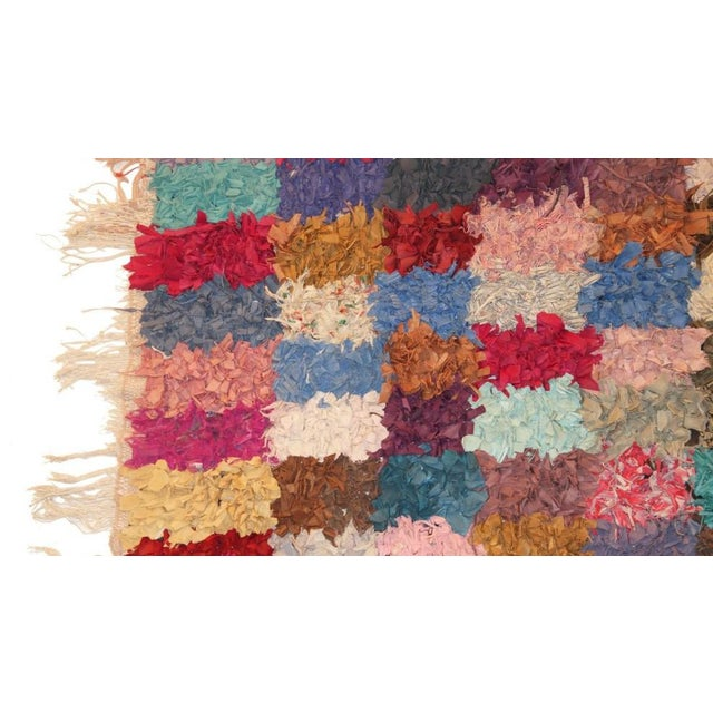 """Vintage Boucherouite Rag Rug - 7'4"""" X 3'5"""" - Image 2 of 3"""