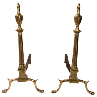 Pair of 18th Century Philadelphia Andirons