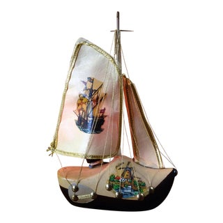 Wooden Shoe Boat Lamp
