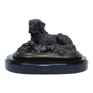 Vintage Christine Baldwin 2 Dog Bronze Statue
