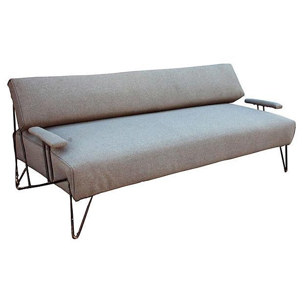 Mid Century Modern Iron Sofa Or Daybed Chairish