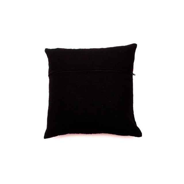 Hill Tribe Pink Pillow - Handmade in Thailand - Image 4 of 4