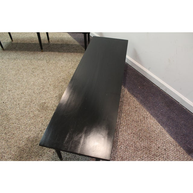 Mid Century Modern Ebonized Coffee Tables - Pair - Image 9 of 11