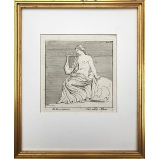 18th C Engraving of a Greco Roman Sculpture by Georg Christoph Kilian