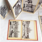 Image of Vintage Italian Red Postcard Books - A Pair