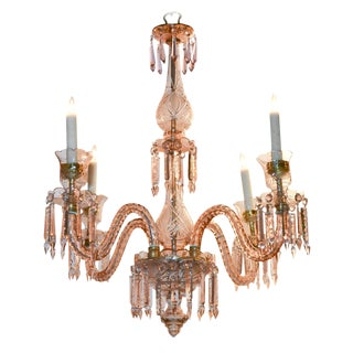 Rare English Waterford Rose Chandelier
