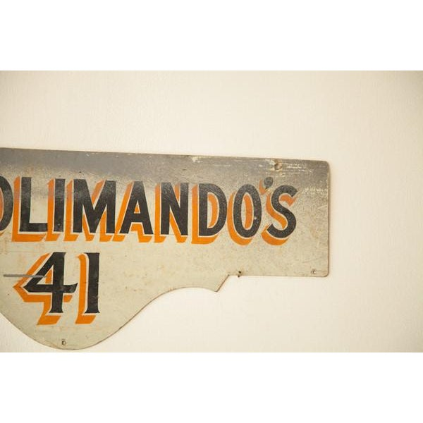 Vintage Deco Double Sided House Sign Solimando's - Image 5 of 7