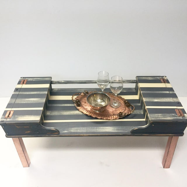 Striped Storage Coffee Table - Image 8 of 9