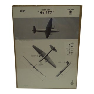 WWII Heinkel He 177 Aircraft Recognition Poster