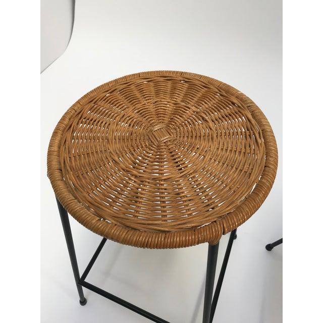 Vintage Arthur Umanoff metal frame counter stools - a Pair - Image 5 of 11