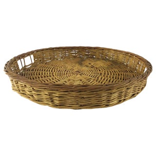 Round Woven Tray Basket
