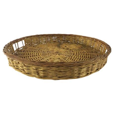 Round Woven Tray Basket Chairish