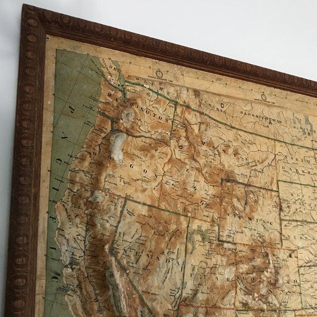 Vintage Framed United States Map Chairish - Framed us map