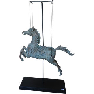 Indonesian Hanging Horse on Stand