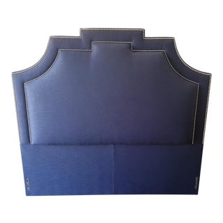 Traditional Navy Blue Queen Size Headboard