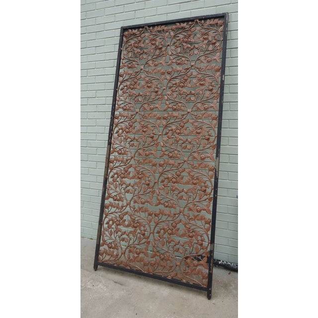 Vintage Wrought Iron Room Divider - Image 2 of 4