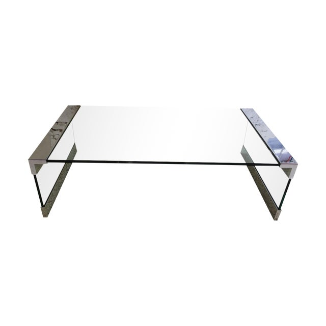 Pace Chrome & Glass Coffee Table - Image 1 of 7