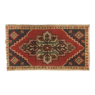 Vintage Turkish Area Rug - 1′8″ × 3′