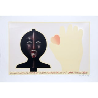 """John Russell Clift """"Head, Heart, and Hand of a Flyer Whirligig (No One """"A"""")"""" Serigraph"""
