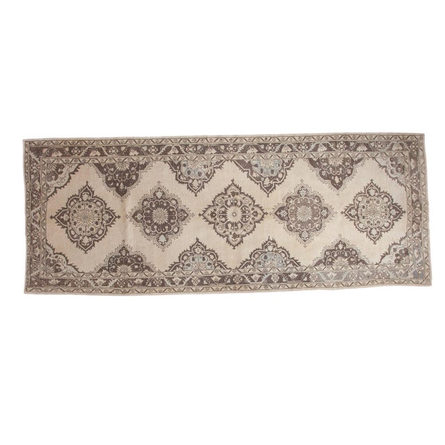 "Distressed Oushak Runner - 5' X 12'10"" - Image 1 of 10"