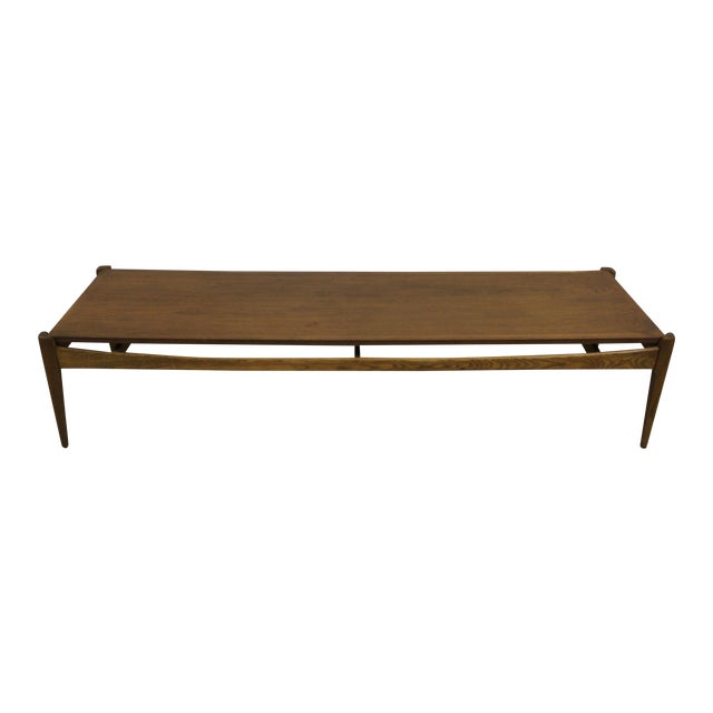Image of Extra Long Mid Century Modern Coffee Table