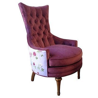 1950s Tufted Accent Chair