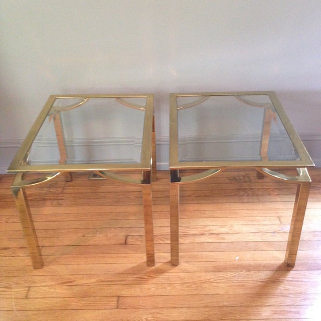 Image of Hollywood Regency Side Tables - Pair