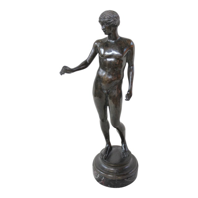 Bronze Nude Male Statue - Image 1 of 6