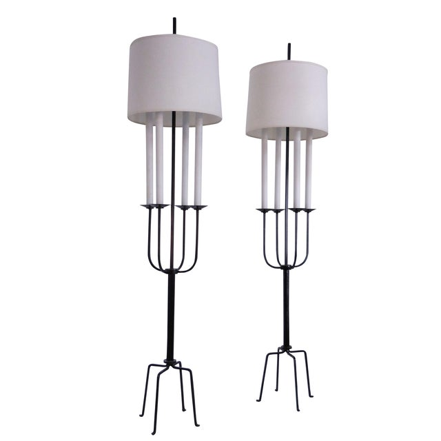 Tommi Parzinger Mid-Century Floor Lamps - A Pair - Image 1 of 8