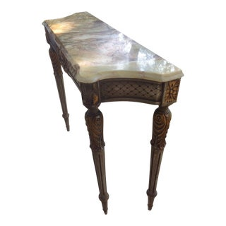 Buttery Marble Console Table