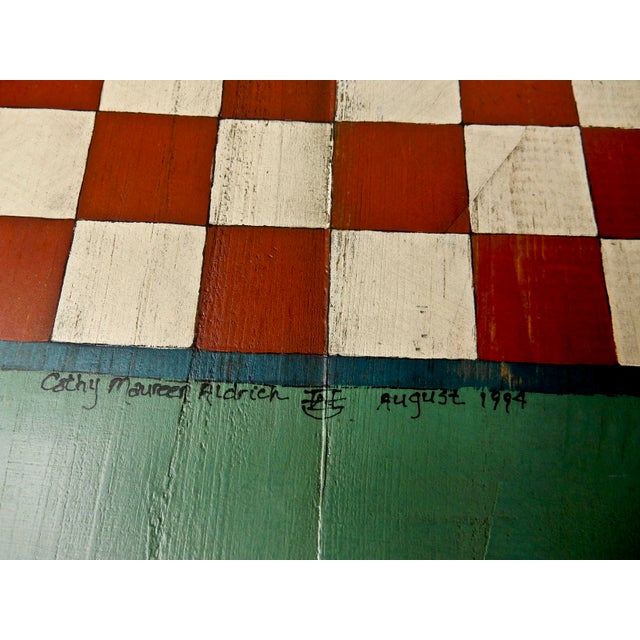 Hand Painted Parcheesi & Checkers Gameboard - Image 6 of 6
