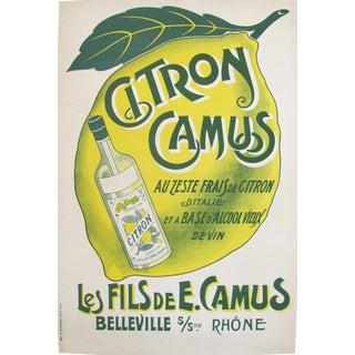 1910s French Vintage Belle Epoque Alcohol Ad, Citron Camus