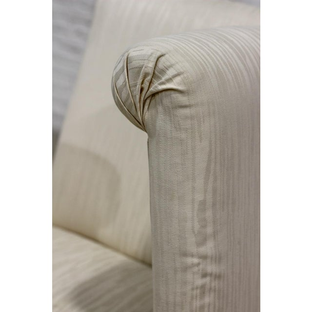 Image of White Upholstered Parsons Dining Chair