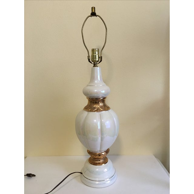 Image of Pearlescent Hollywood Regency Lamp