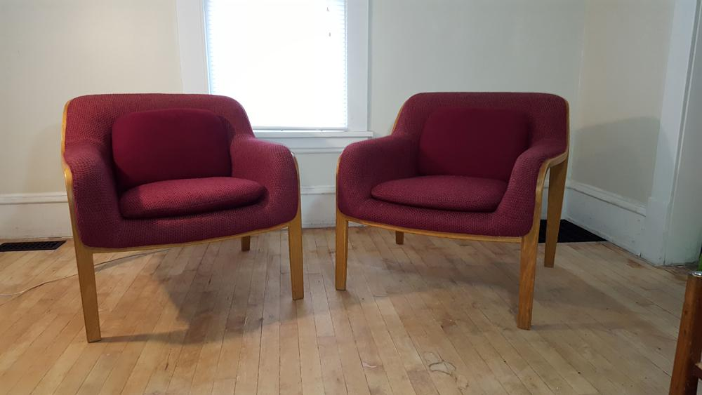 Image Of Knoll Stephens Club Chairs   A Pair