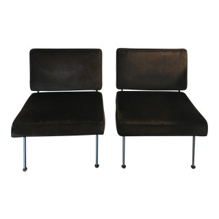 Vintage Knoll Astrakhan Lounge Chairs - A Pair