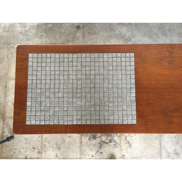 Vintage Mid Century Modern Lane Mosaic Top Coffee Table
