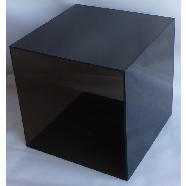 Smoked Lucite Storage Cube - Image 2 of 7