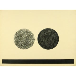 Abstract Fine Art Lithograph - Night & Day, 1971