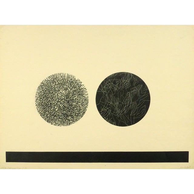 Image of Abstract Fine Art Lithograph - Night & Day, 1971