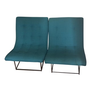 1960s Milo Baughman Scoop Chairs - A Pair