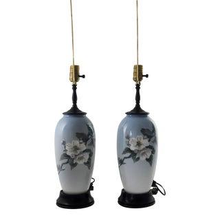 Vintage Bing & Grondahl Royal Copenhagen Lamps - A Pair