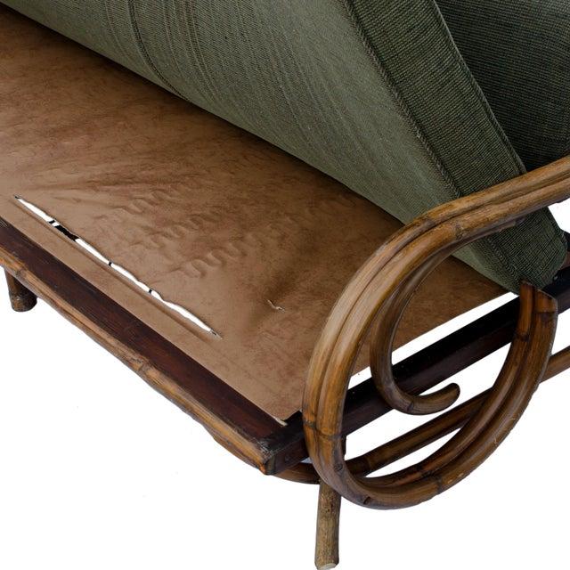 Mid-Century Rattan Sectional Sofa - Image 8 of 11