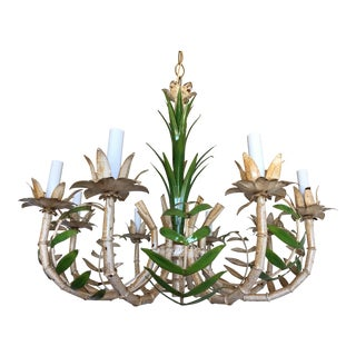 1950s Bamboo Palm Chandelier