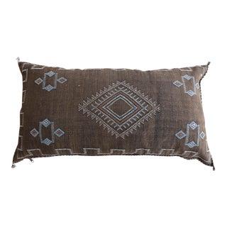 Mocha Moroccan Sabra Cactus Lumbar Pillow